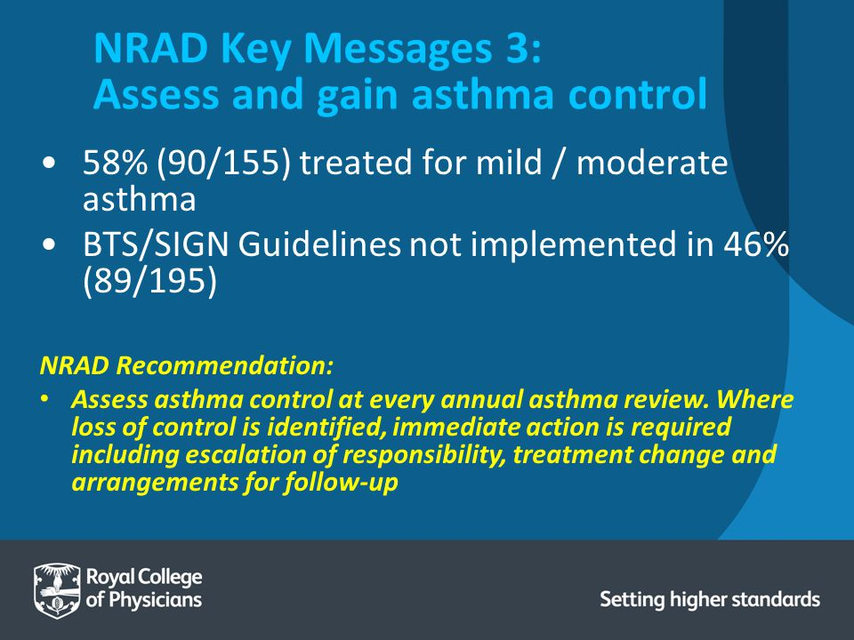 NRAD Key Messages 3: Assess and gain asthma control