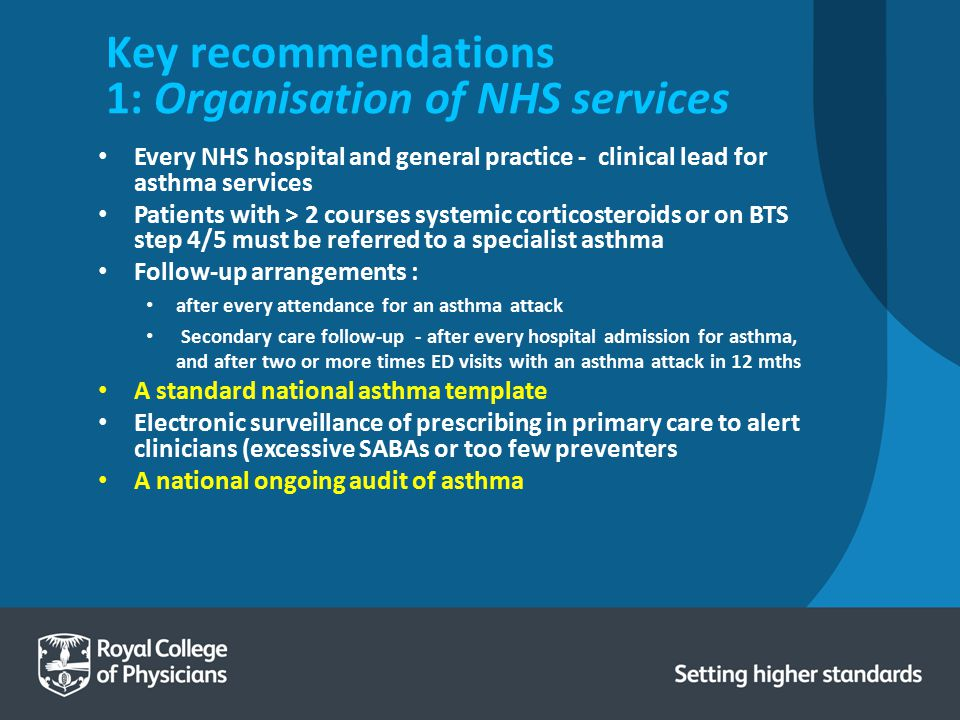 Key recommendations 1: Organisation of NHS services