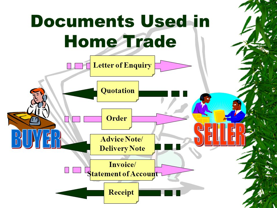 Documents Used in Home Trade