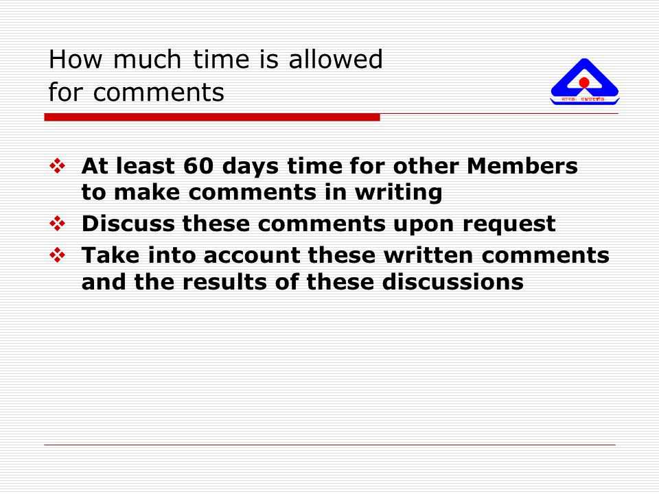 How much time is allowed for comments