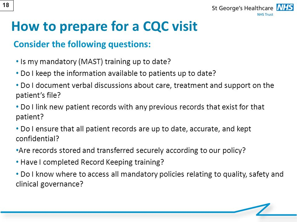 How to prepare for a CQC visit