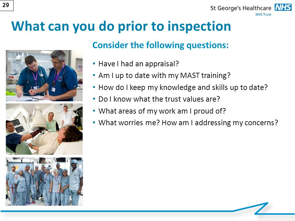 What can you do prior to inspection