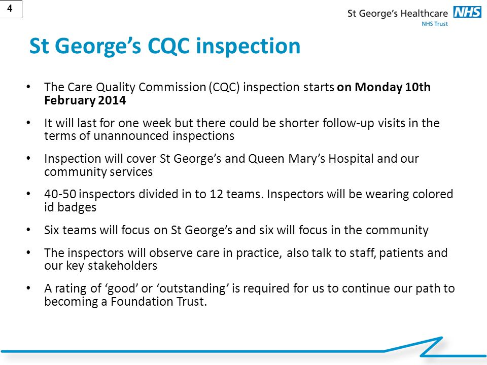 St George's CQC inspection