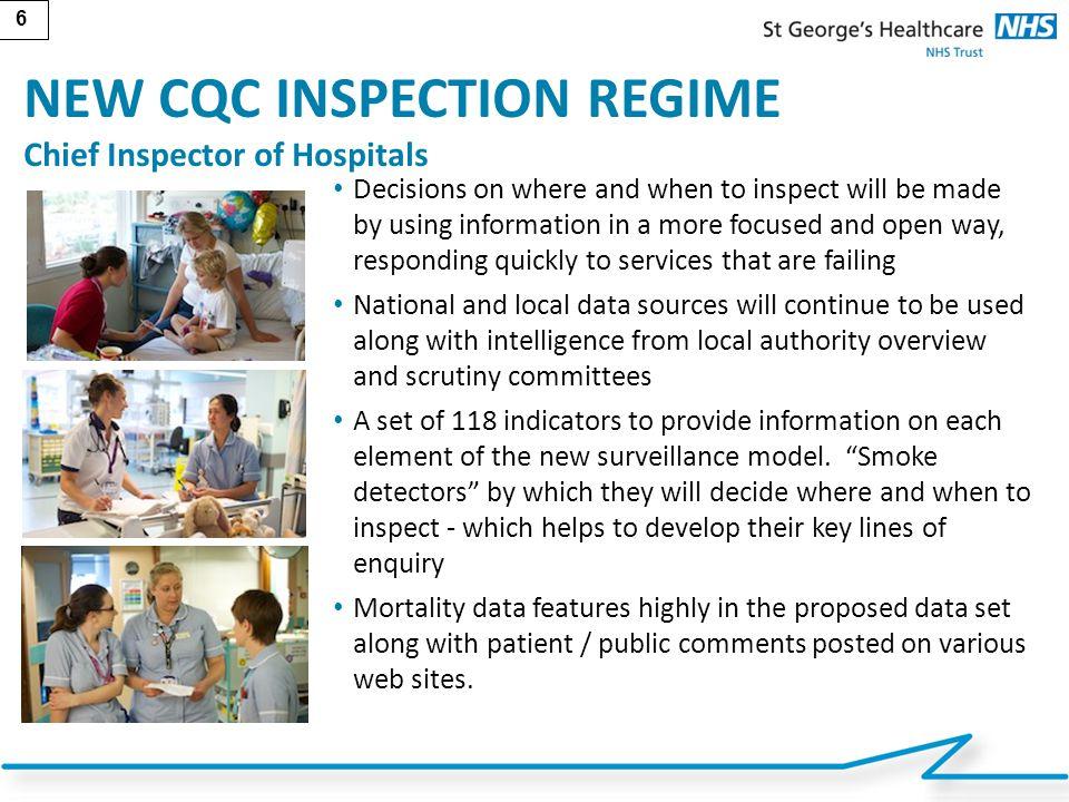 NEW CQC INSPECTION REGIME