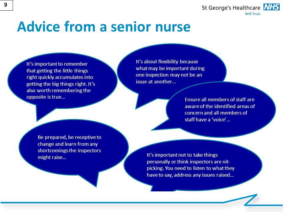 Advice from a senior nurse