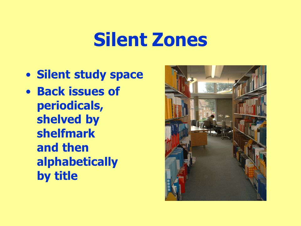 Silent Zones Silent study space