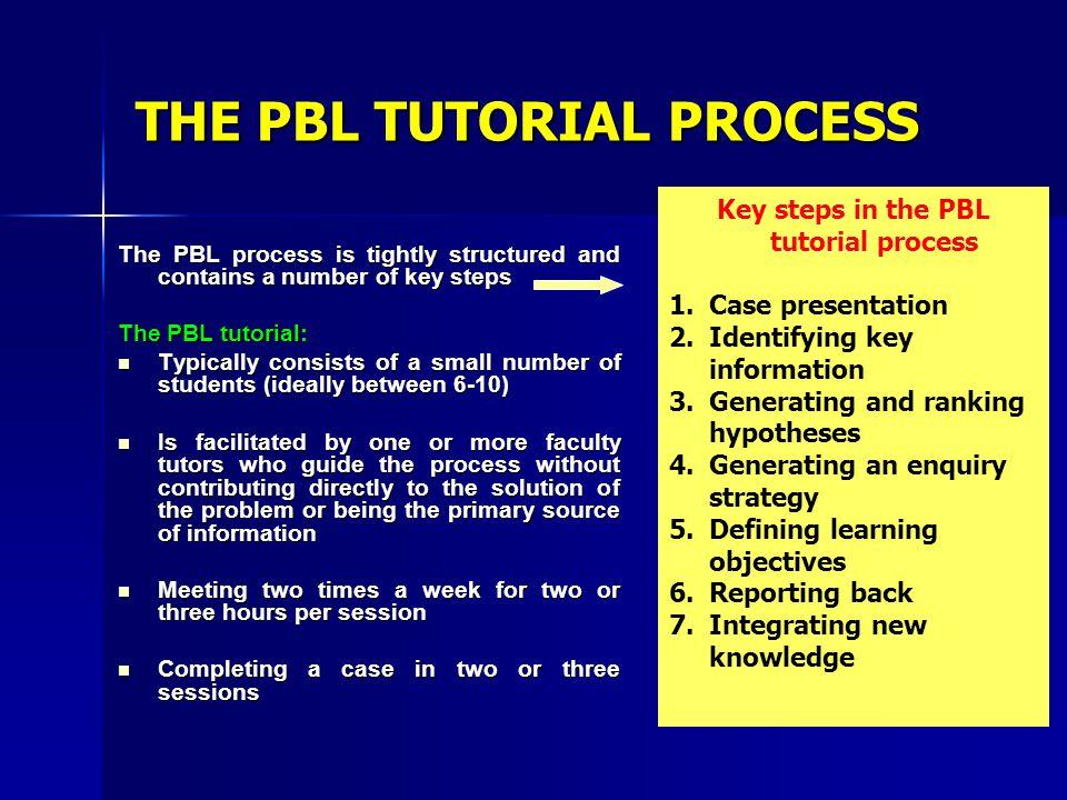 THE PBL TUTORIAL PROCESS