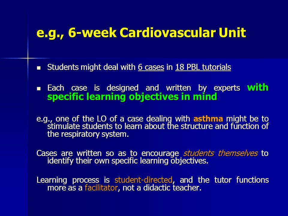 e.g., 6-week Cardiovascular Unit