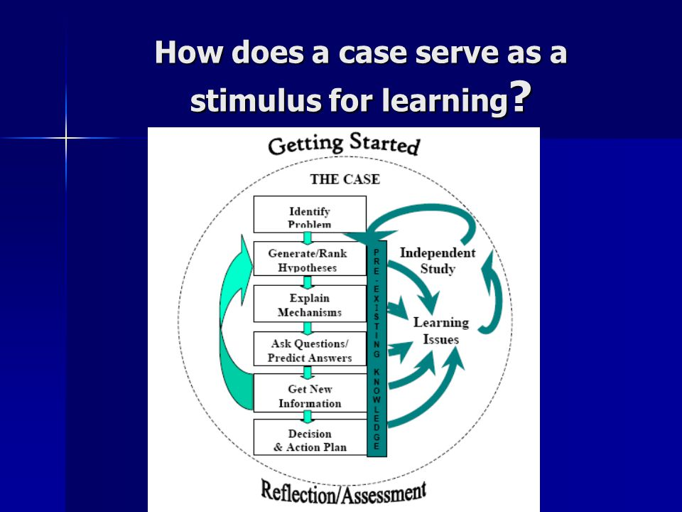 How does a case serve as a stimulus for learning