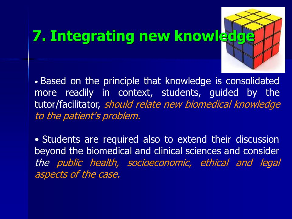7. Integrating new knowledge