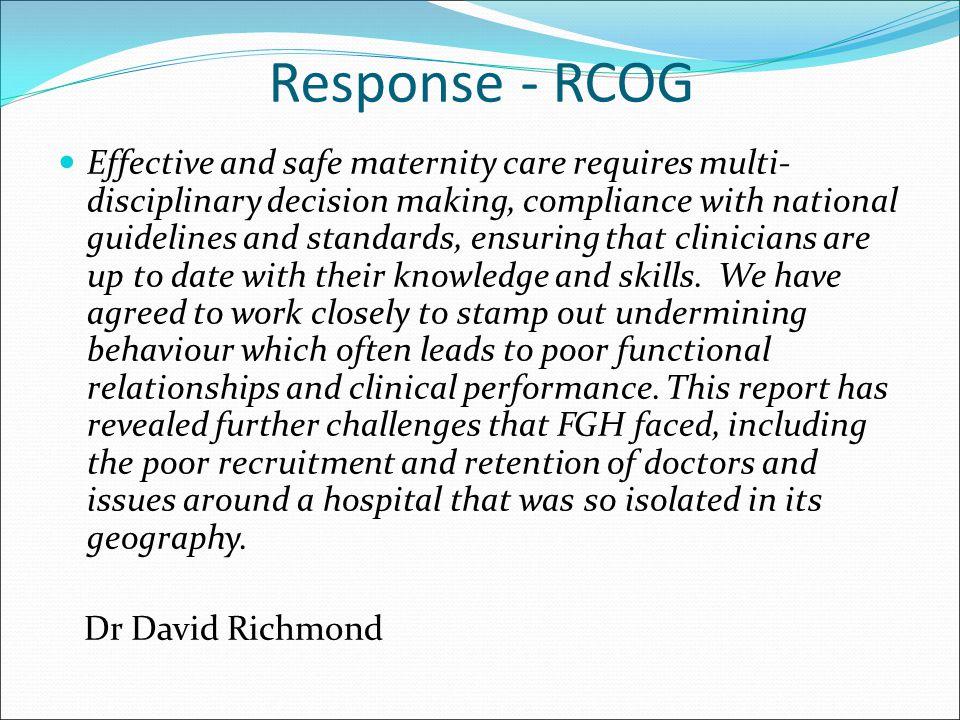 Response - RCOG