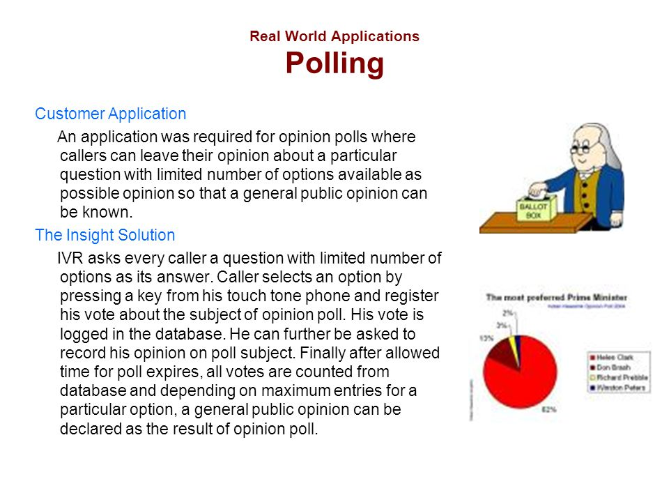 Real World Applications Polling