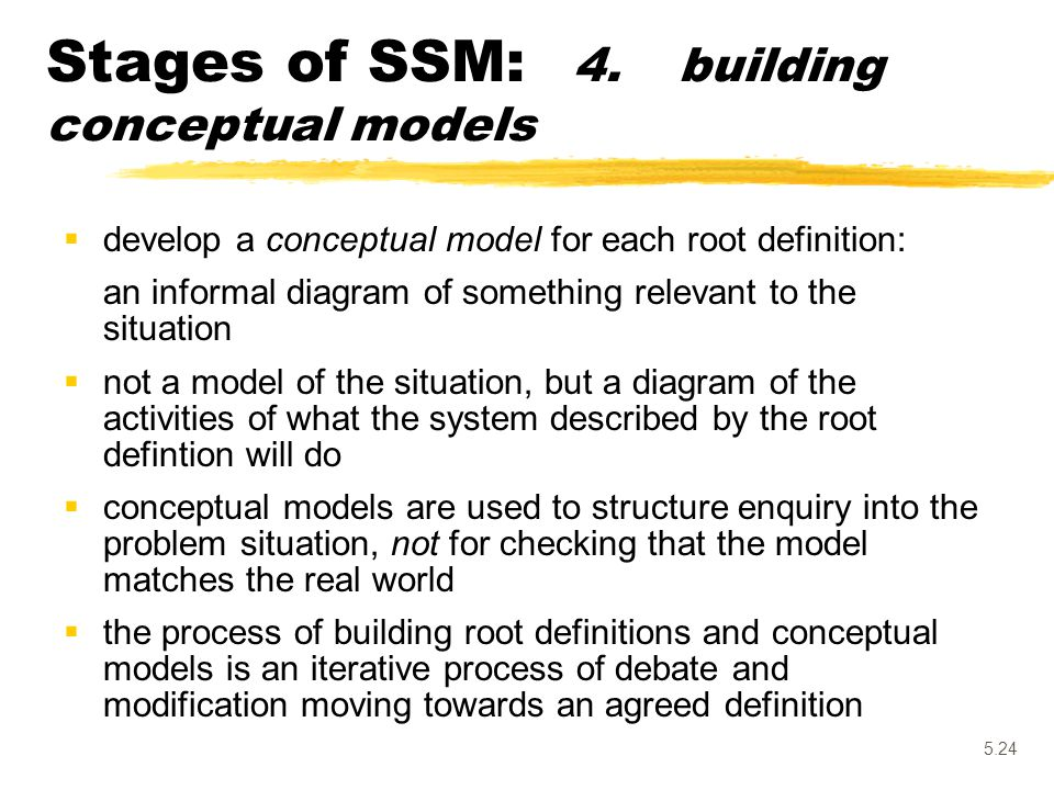 Stages of SSM: 4. building conceptual models