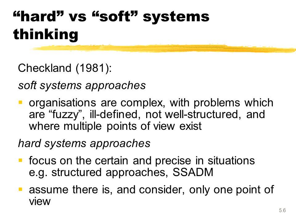 hard vs soft systems thinking