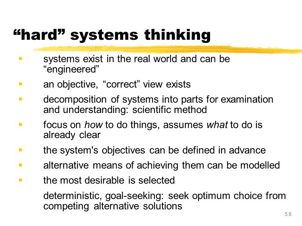 hard systems thinking