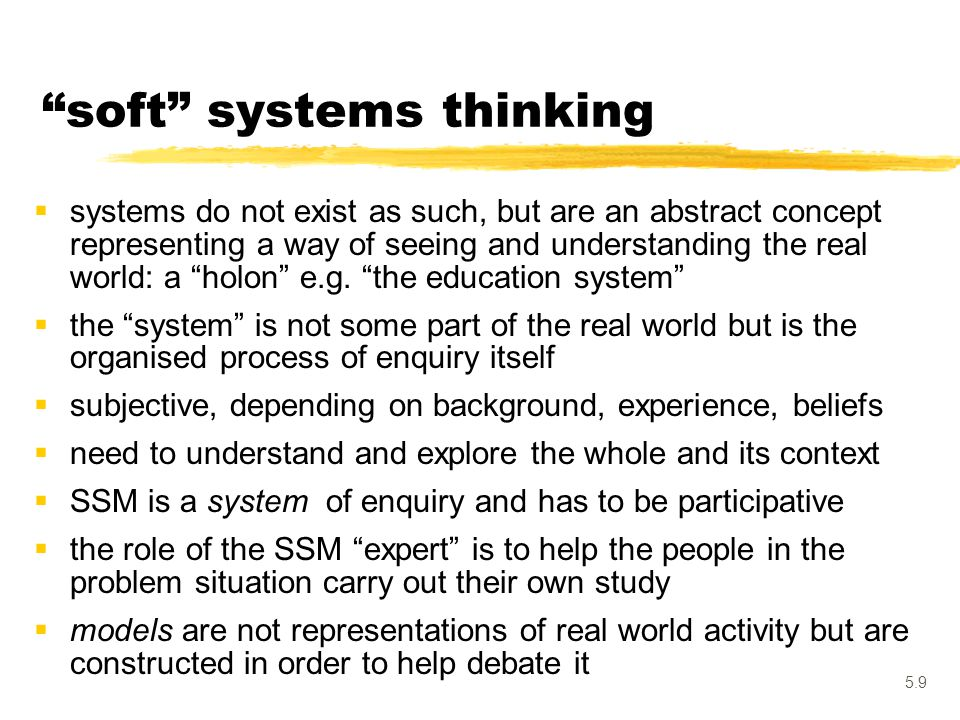 soft systems thinking