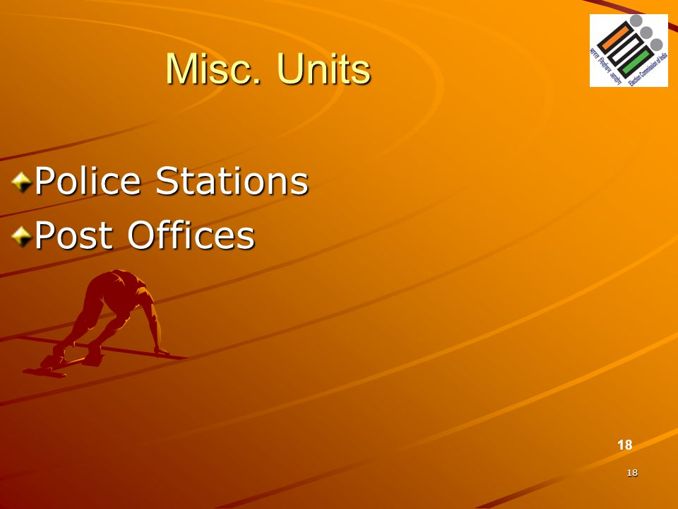 Misc. Units Police Stations Post Offices 18