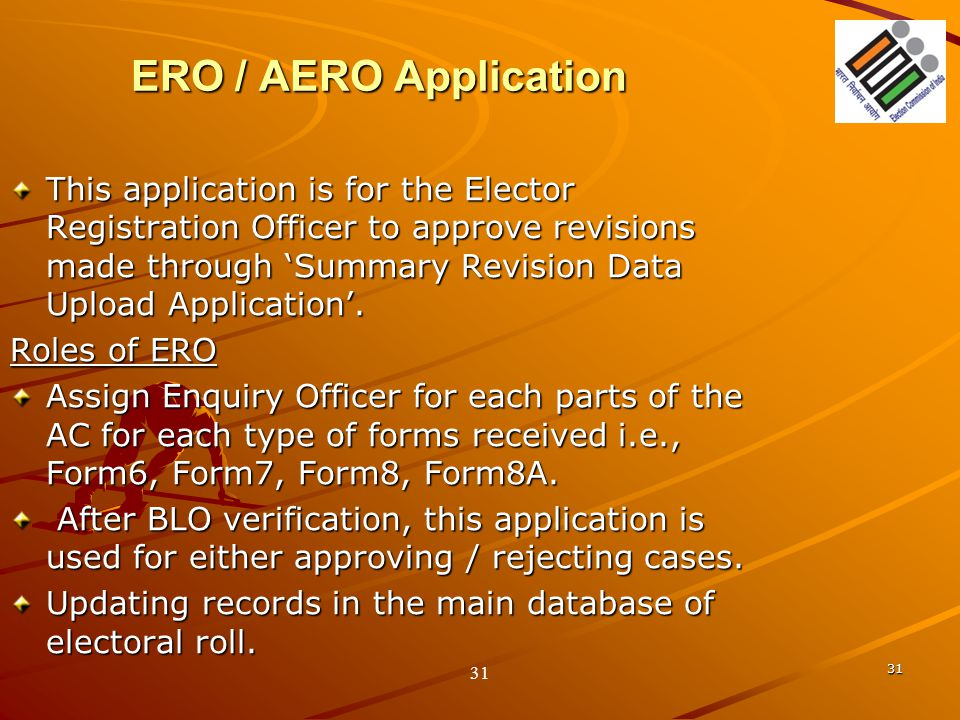 ERO / AERO Application