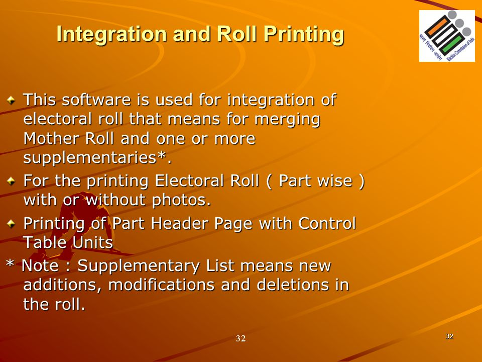 Integration and Roll Printing