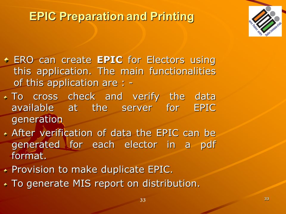EPIC Preparation and Printing
