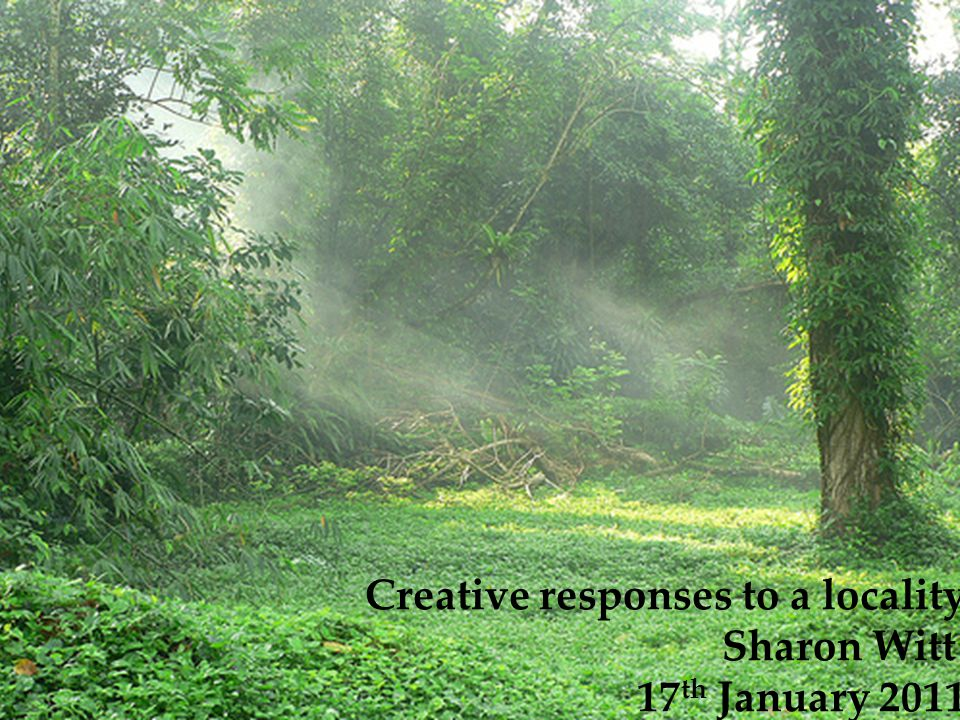 Creative responses to a locality