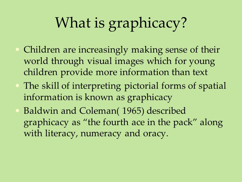 What is graphicacy