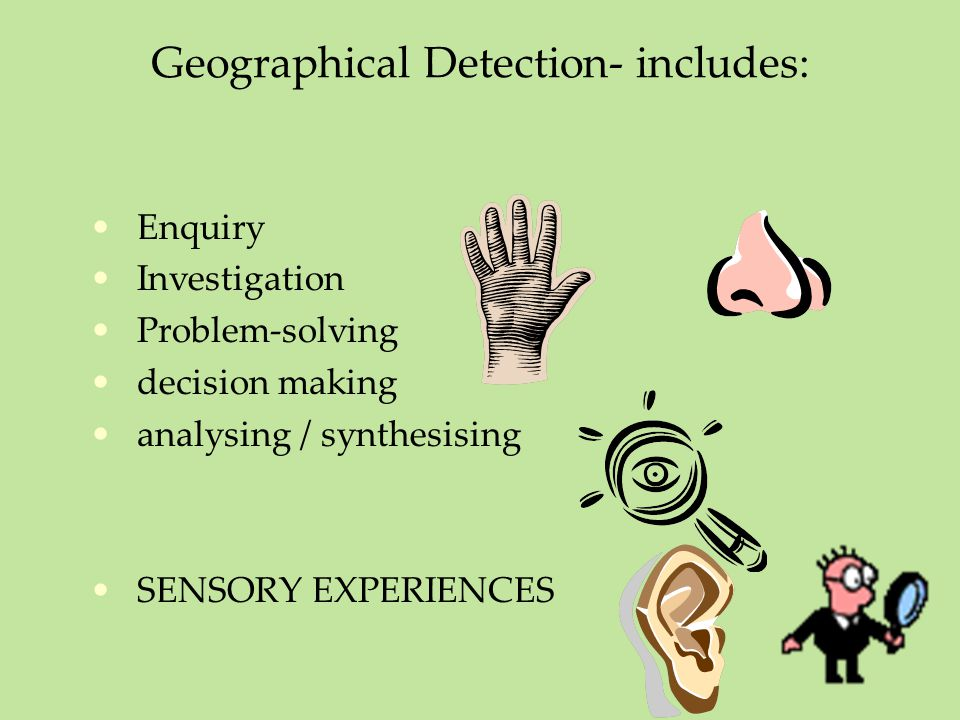 Geographical Detection- includes: