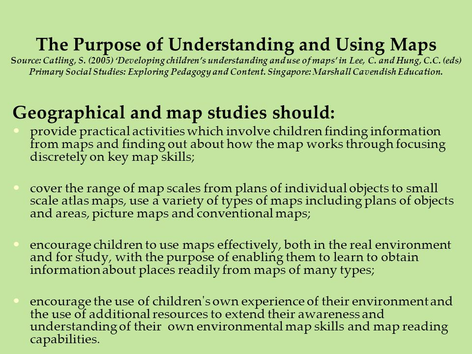 Creative Responses To A Locality Ppt Video Online Download - Map reading for children