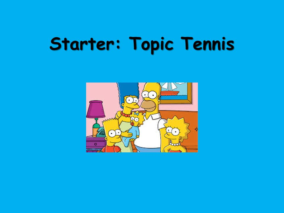 Starter: Topic Tennis