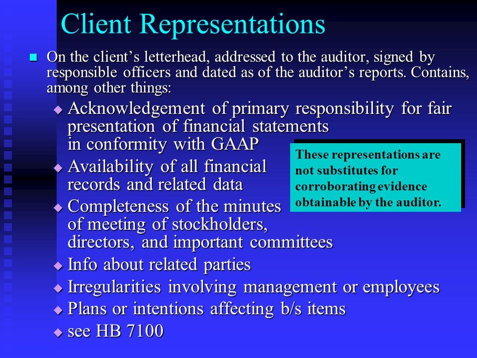 Client Representations