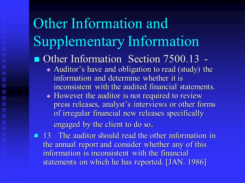 Other Information and Supplementary Information