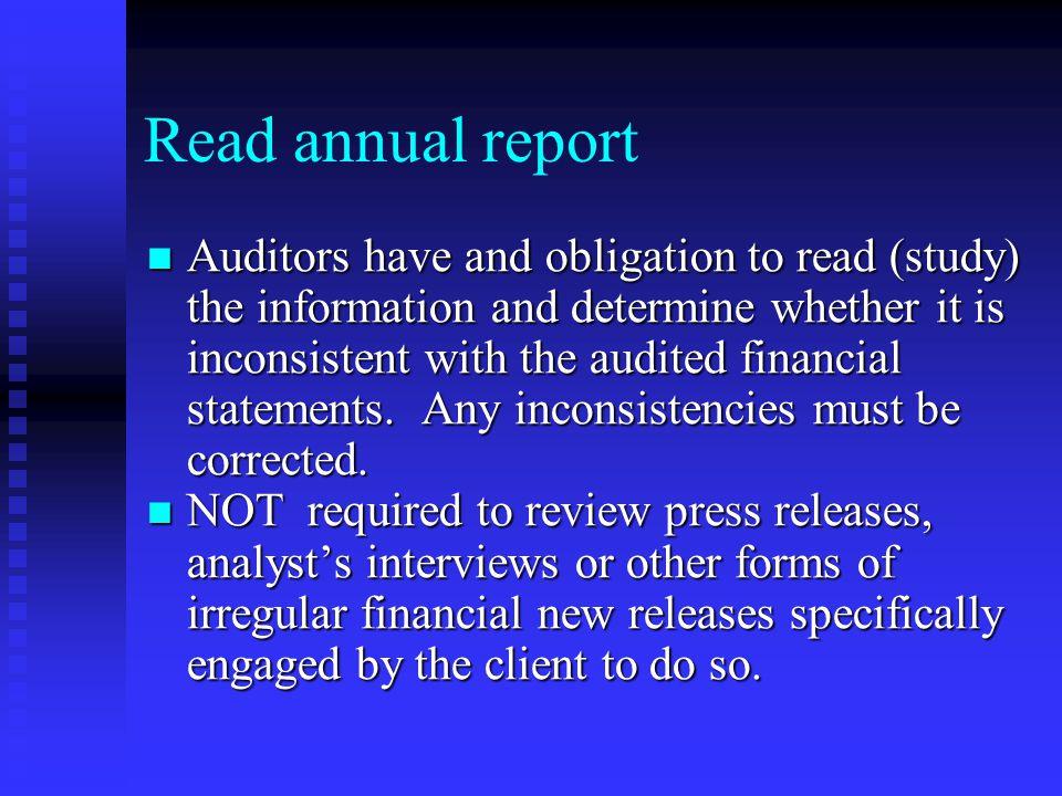 Read annual report