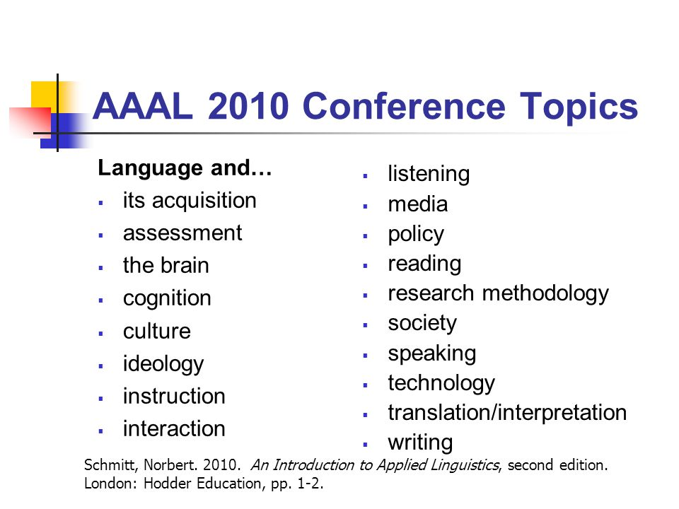 AAAL 2010 Conference Topics