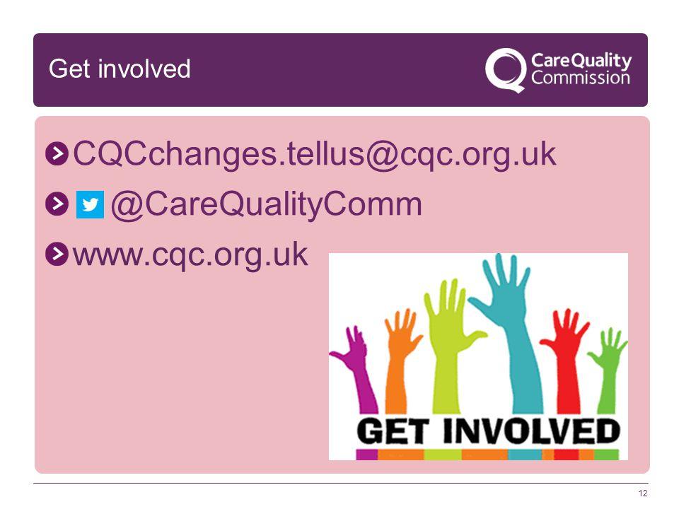 CQCchanges.tellus@cqc.org.uk @CareQualityComm www.cqc.org.uk