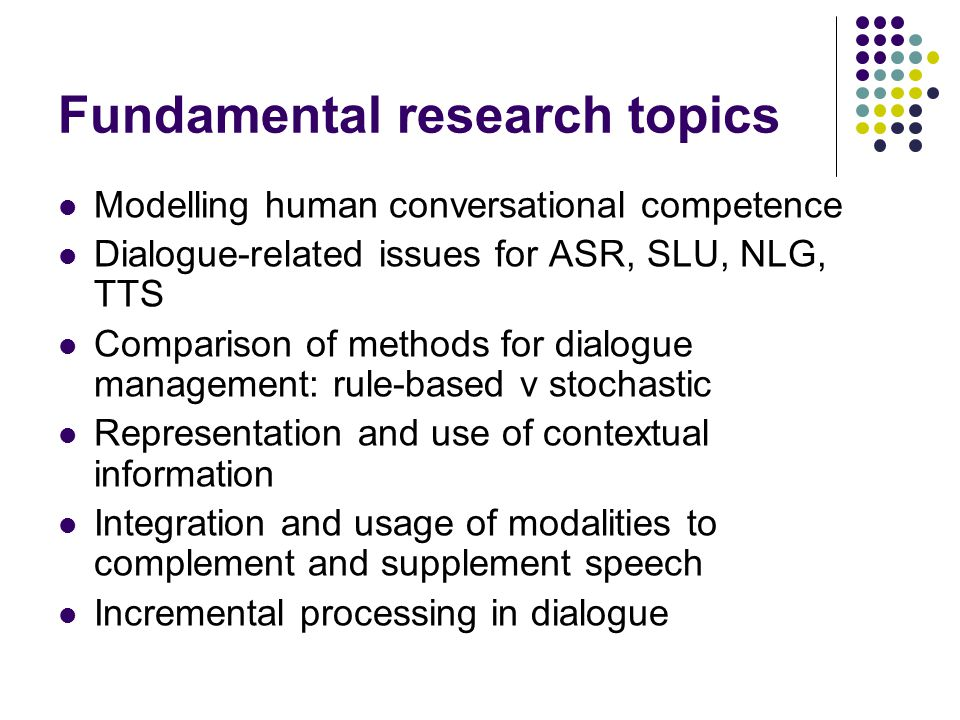 Fundamental research topics