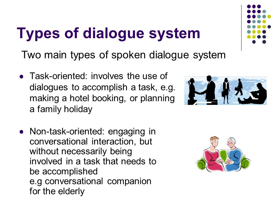 Types of dialogue system