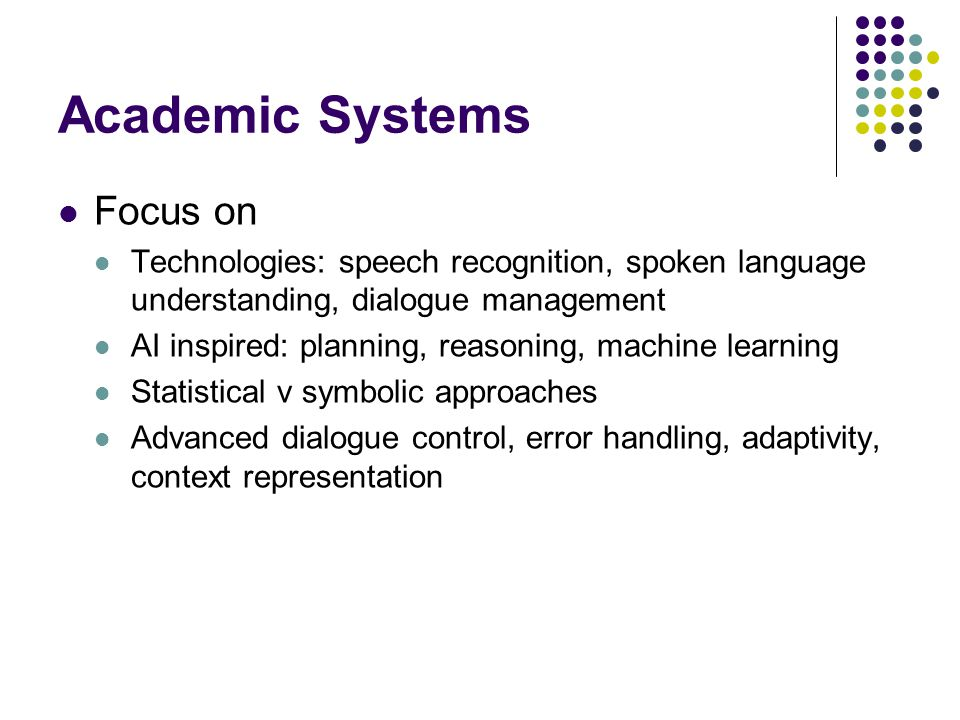 Academic Systems Focus on