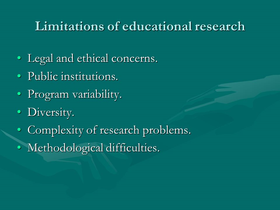 Limitations of educational research