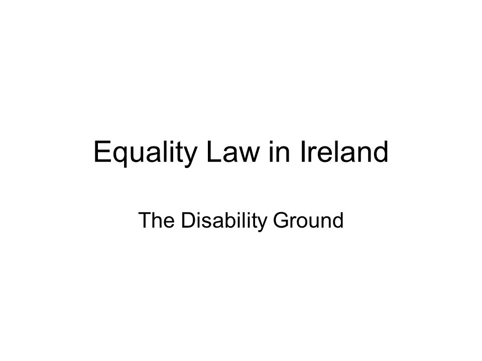 Equality Law in Ireland