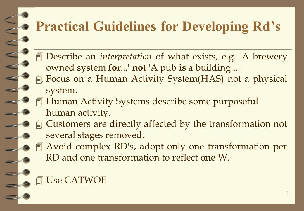 Practical Guidelines for Developing Rd's
