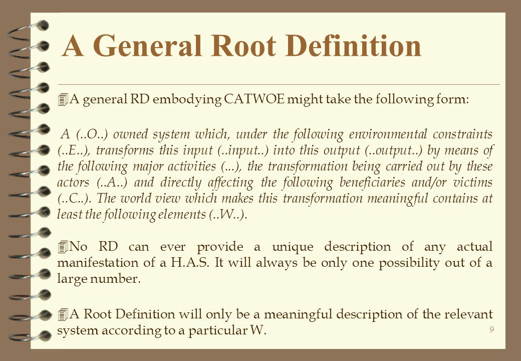 A General Root Definition