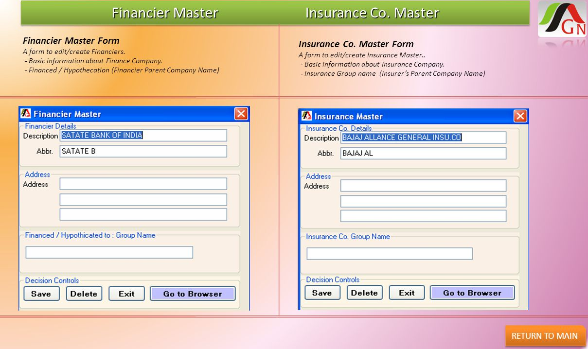 Financier Master Insurance Co. Master