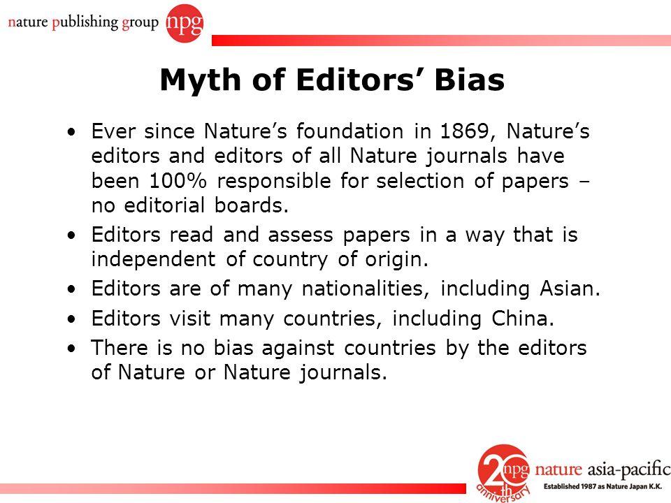 Myth of Editors' Bias