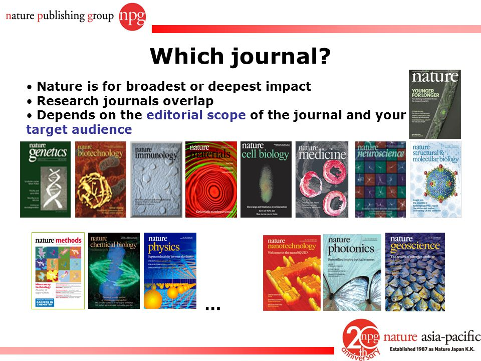 Which journal … Nature is for broadest or deepest impact