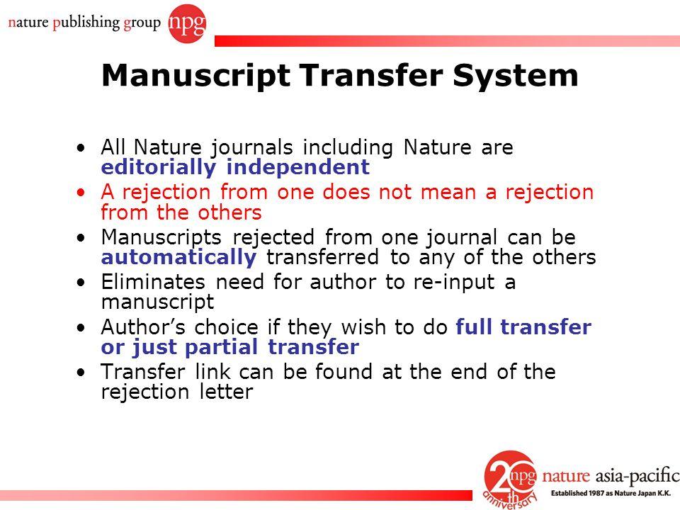 Manuscript Transfer System