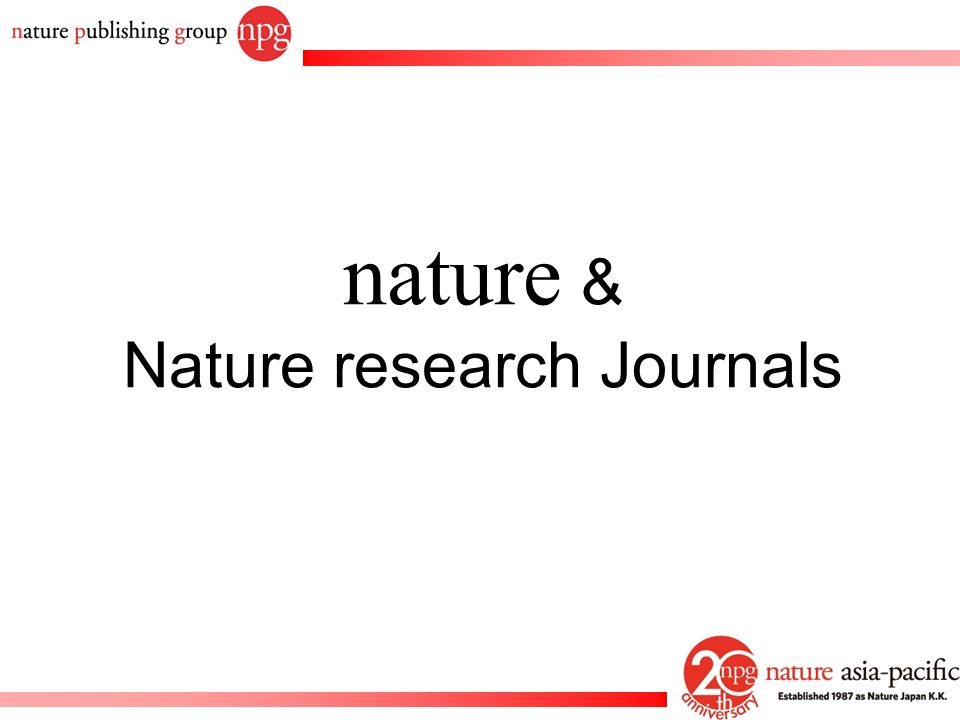 nature & Nature research Journals