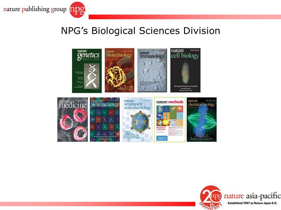 NPG's Biological Sciences Division