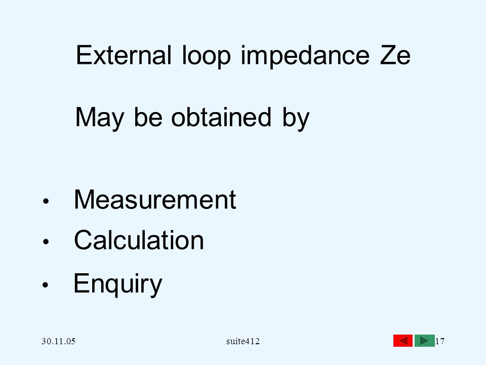 earth fault loop impedance calculation pdf