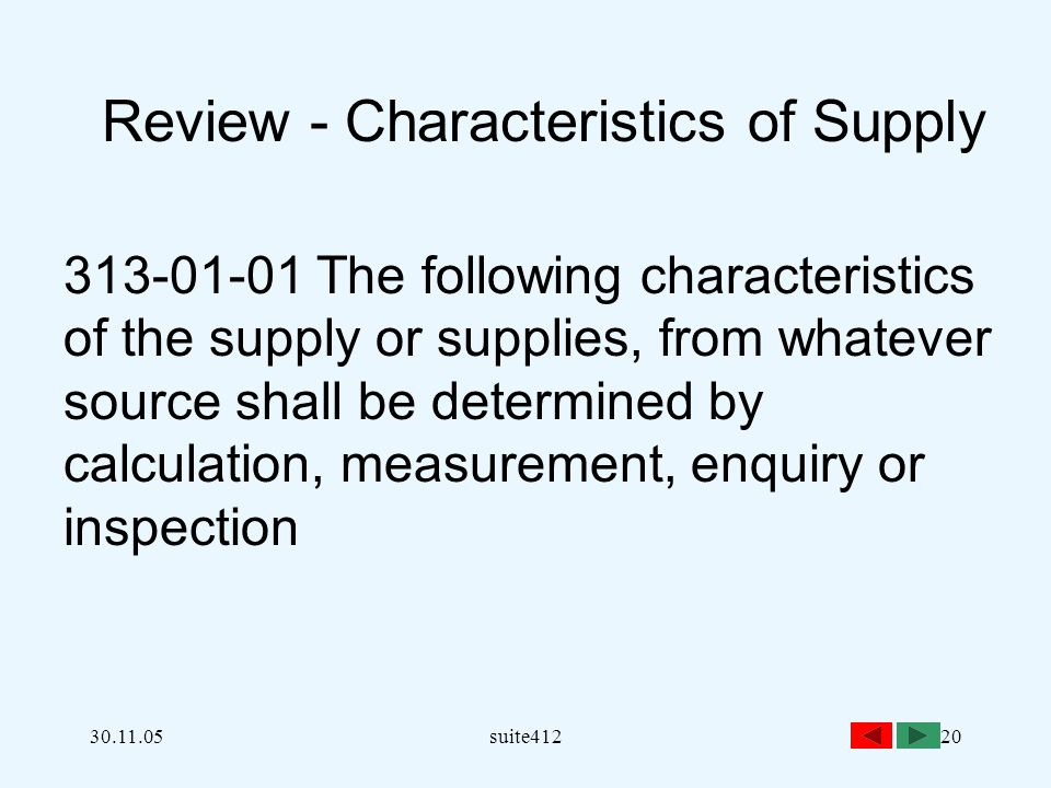 Review - Characteristics of Supply