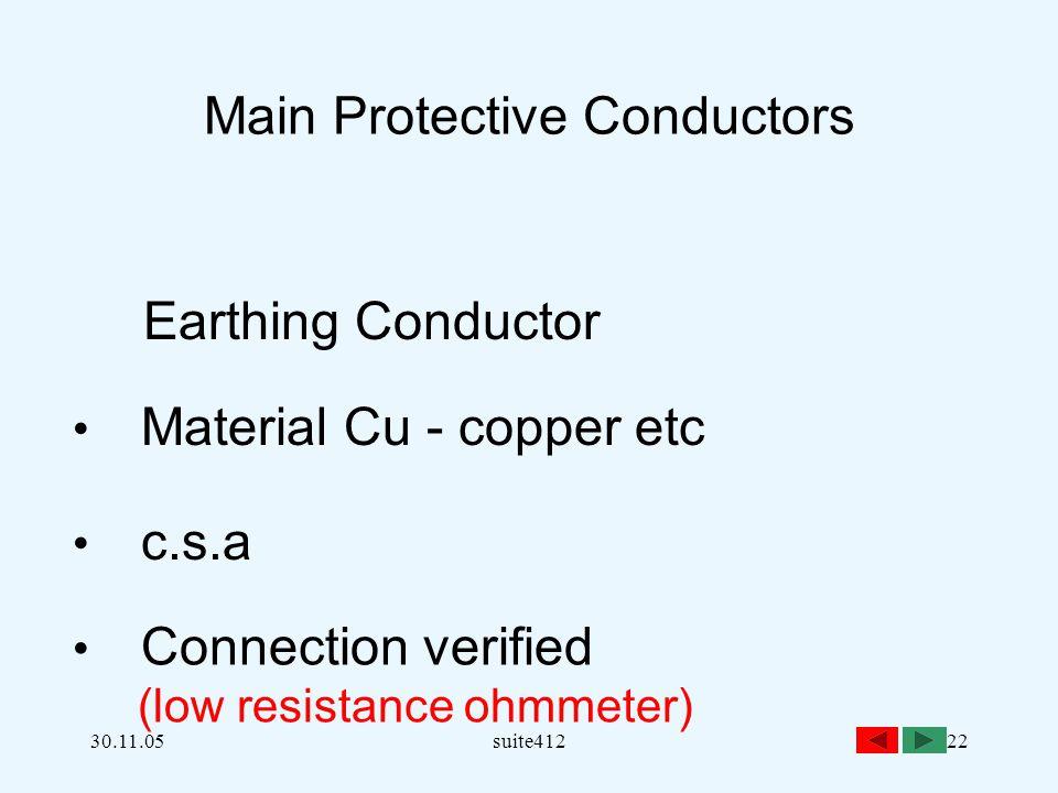 Main Protective Conductors